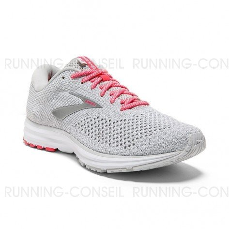 BROOKS REVEL 2 Femme Grey/White/Pink   Collection Automne Hiver 2018