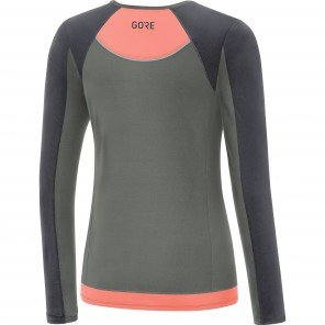 GORE® R5 Maillot manches longues Femme Castor grey / Terra grey