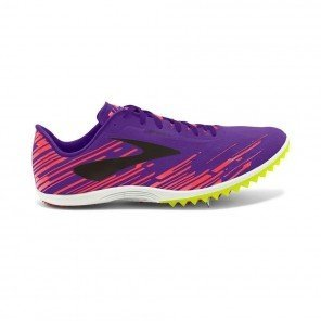 BROOKS Mach 18 Pointes Femme Violet / Orange / Noir