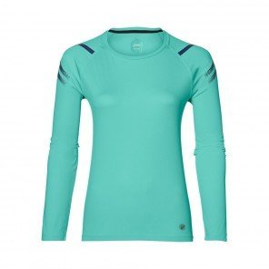 ASICS Tee-shirt manches longues Icon LS TOP Femme Bleu Turquoise Face