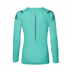 ASICS Tee-shirt manches longues Icon LS TOP Femme Bleu Turquoise