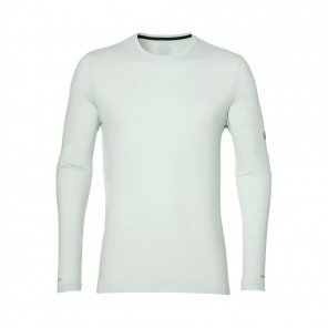 ASICS Tee-shirt manches longues Seamless LS Homme Blanc Face