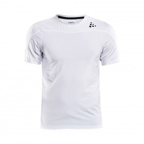 CRAFT Tee-Shirt manches courtes Shade Homme Blanc face
