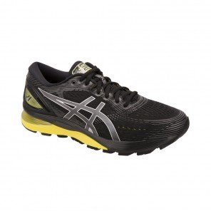 ASICS GEL-NIMBUS 21 HOMME | BLACK / LEMON SPARK | Collection Printemps-Été 2019
