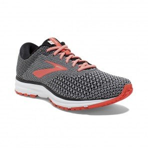 BROOKS REVEL 2 FEMME | BLACK/LIGHT GREY/CORAL | Collection Printemps-Été 2019