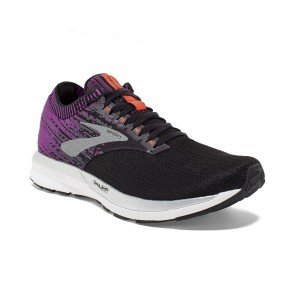 BROOKS RICOCHET FEMME | BLACK/PURPLE/CORAL | Collection Printemps-Été 2019