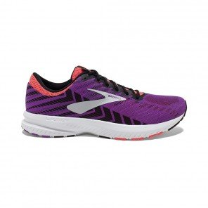 BROOKS LAUNCH 6 FEMME | PURPLE/BLACK/CORAL