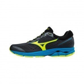 MIZUNO WAVE RIDER 22 Homme Ombre Blue/Safety Yellow/Diva Blue | Collection Automne Hiver 2018