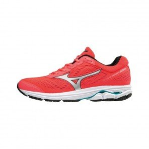 MIZUNO WAVE RIDER 22 Femme Fiery Coral/Silver/Peacock Blue | Collection Automne hiver 2018