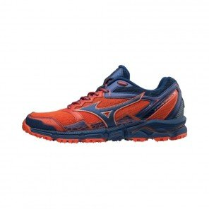 MIZUNO WAVE DAICHI 3 Homme | Cherry Tomato/Estate Blue/High Risk Red