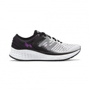 NEW BALANCE FRESH FOAM 1080v9 FEMME | WHITE WITH BLACK & VOLTAGE VIOLET | Collection Printemps-Été 2019