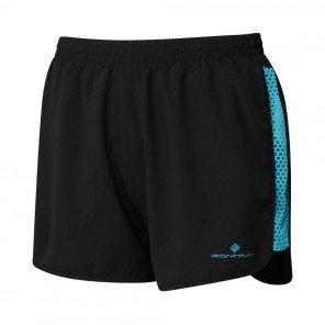 RONHILL Short GLIDE MOMENTUM Femme | Black/Peacock | Collection Printemps-Été 2019