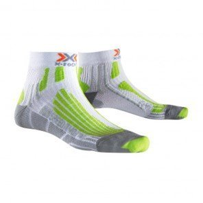 X-Socks Run Speed two - Homme - Blanc / Vert lime