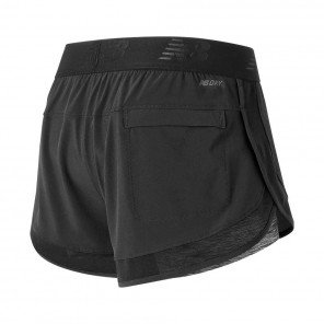NEW BALANCE Short Mixed Media 2 en1 Femme | Black
