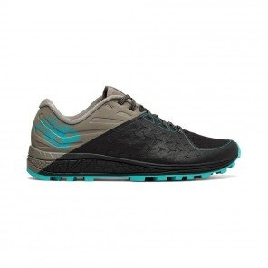 NEW BALANCE Vazee Summit Trail v2 Femme Black with Military Green / Turquoise Profil Extérieur