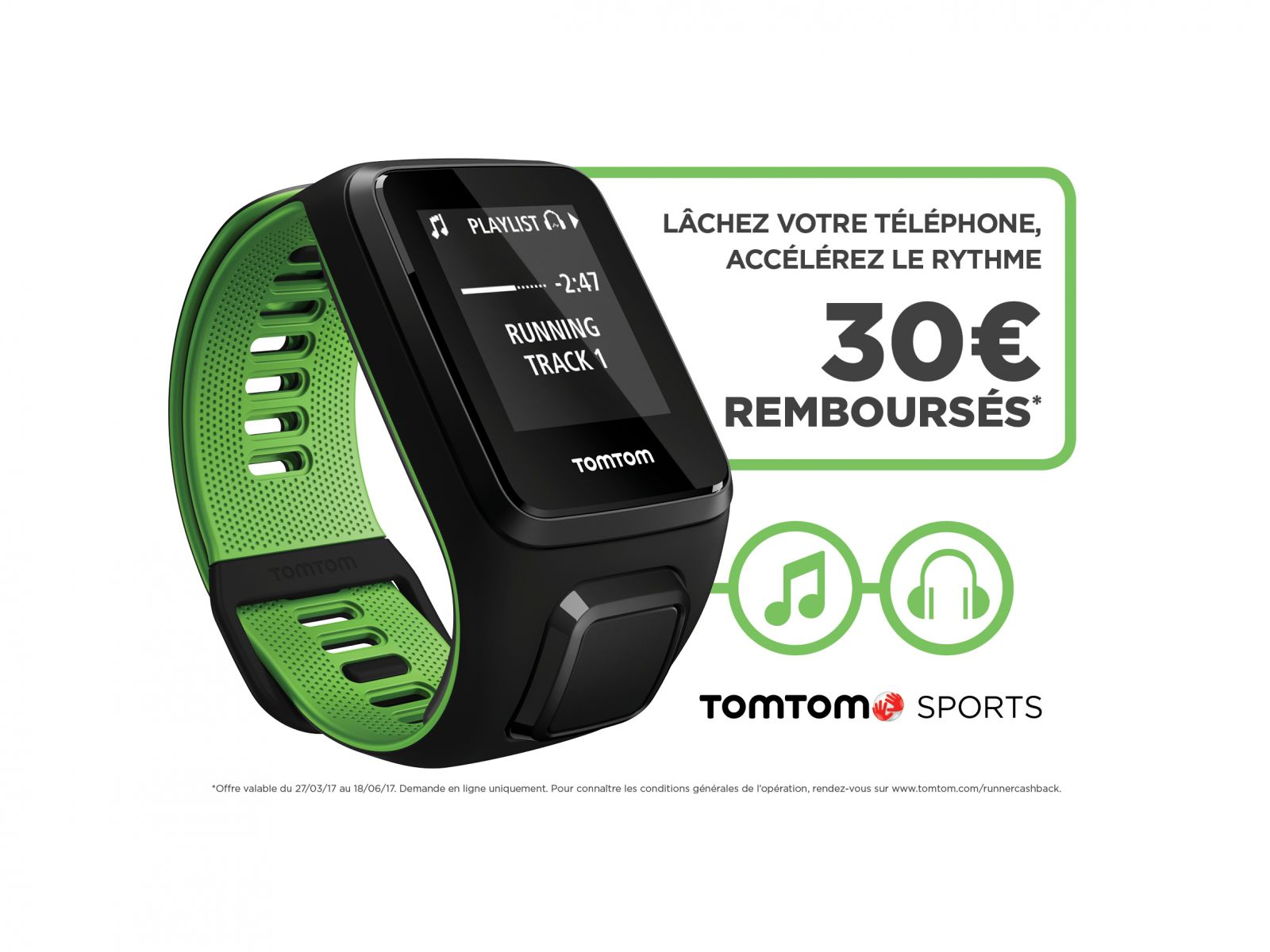 TomTom Runner 3 - 30€ remboursés