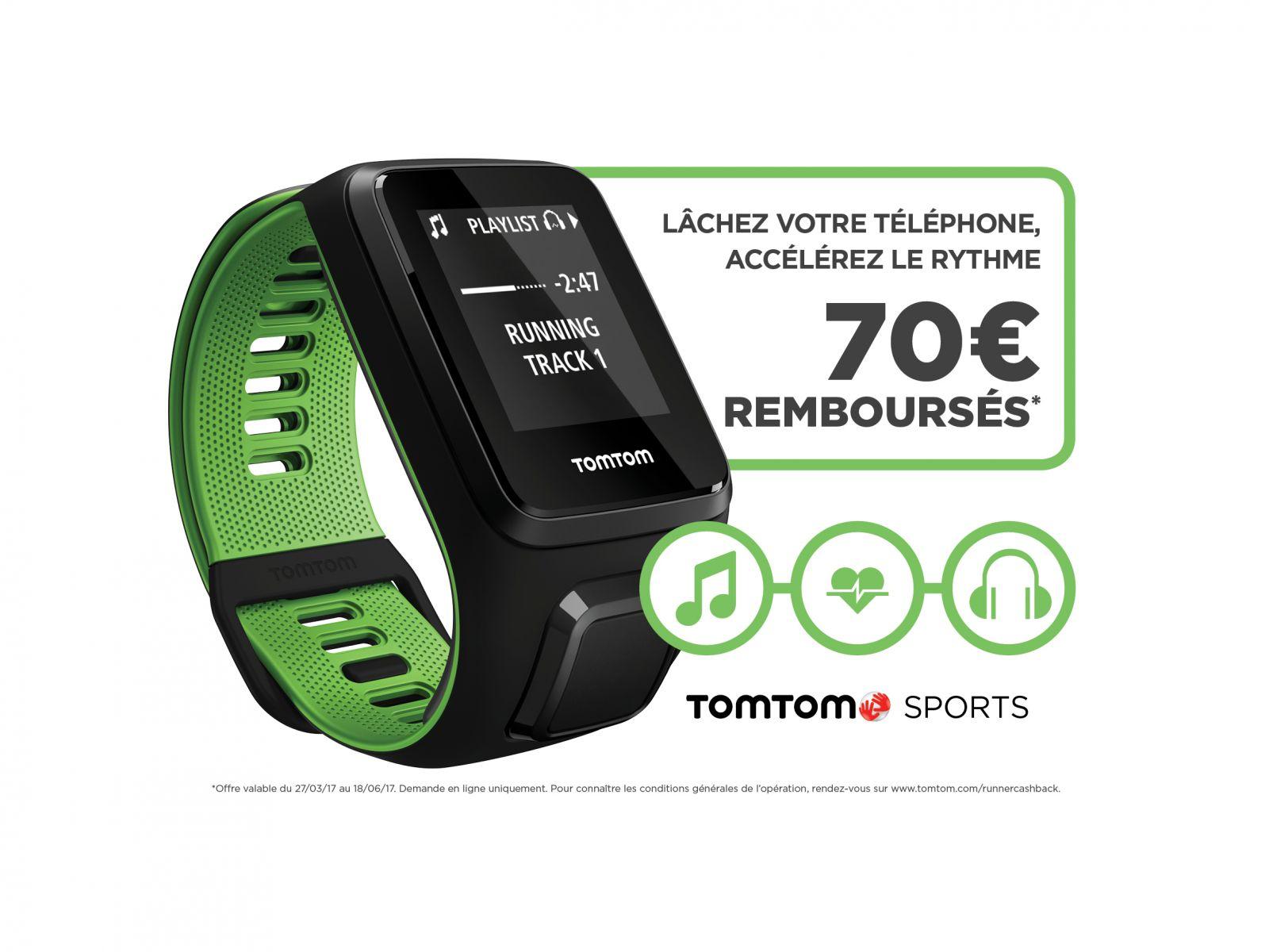 TomTom Runner 3 - 70€ remboursés